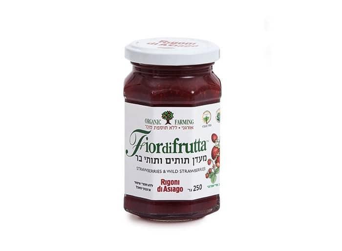 פיורידפרוטה מעדן תותים ותותי בר אורגני 250 גרם
