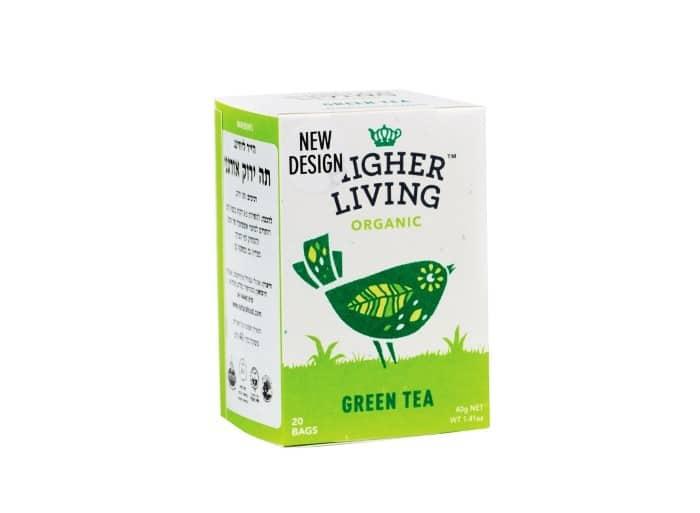 הייר ליבינג תה ירוק אורגני 20 שקיקים