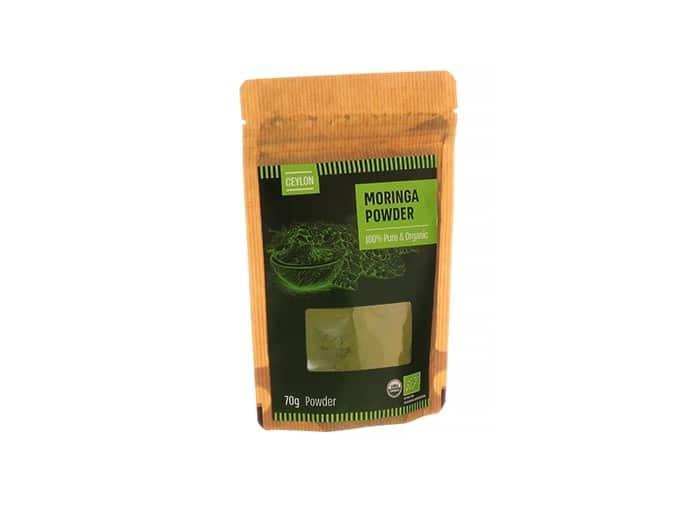 אבקת מורינגה ציילון אורגנית נטורפוד 70 גרם