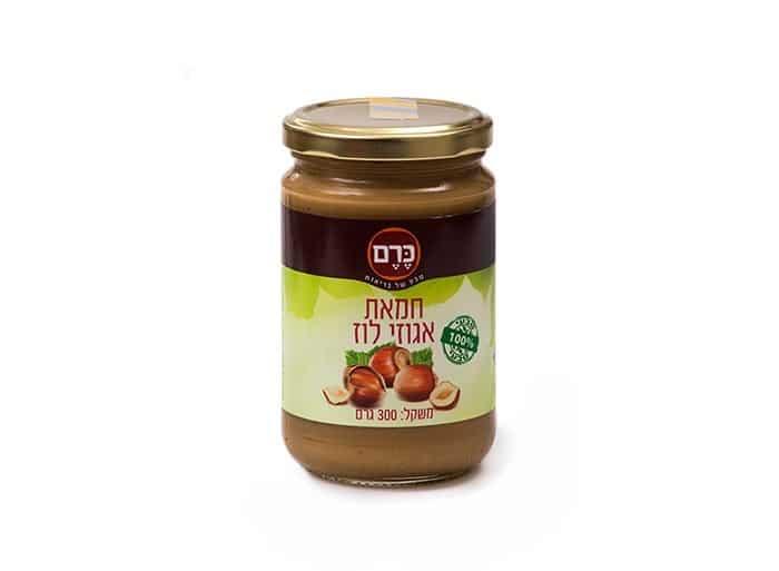 """חמאת אגוזי לוז """"כרם"""" 300 גרם"""